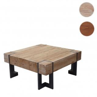 Couchtisch HWC-A15, Wohnzimmertisch, Tanne Holz rustikal massiv ~ naturfarben 60x60cm