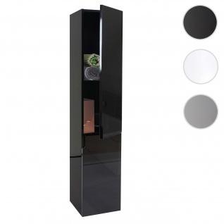 Hängeschrank HWC-B19, Midischrank Hochschrank Badezimmer Badmöbel, hochglanz 150x30cm ~ schwarz