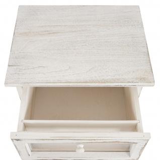 Kommode Asti, Kreativ-Schublade, Shabby-Look 82x40x31cm weiß - Vorschau 3