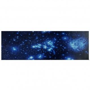LED-Bild, Leinwandbild Leuchtbild Wandbild, Timer ~ 120x40cm Sternenhimmel