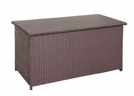 Poly-Rattan Kissenbox HWC-D88, Gartentruhe Auflagenbox Truhe ~ Premium braun, 80x160x94cm 950l - Vorschau 3