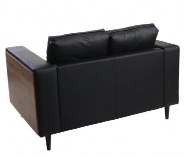 3-1-1 Sofagarnitur Nancy, Couch Kunstleder, schwarz - Vorschau 3