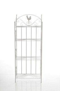 Standregal C24, Gartenregal aus Eisen antik-weiß