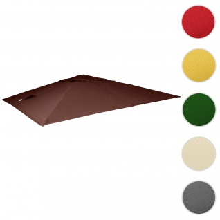 Bezug für Luxus-Ampelschirm HWC-A96, Sonnenschirmbezug Ersatzbezug, 3, 5x3, 5m (Ø4, 95m) Polyester 4kg ~ braun
