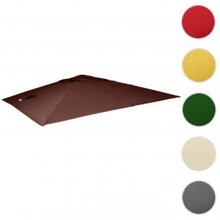 Bezug für Luxus-Ampelschirm HWC-A96, Sonnenschirmbezug Ersatzbezug, 3x4m (Ø5m) Polyester 3, 5kg ~ braun