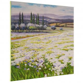 Ölgemälde Blumenlandschaft, 100% handgemalt, 80x80cm - Vorschau 4