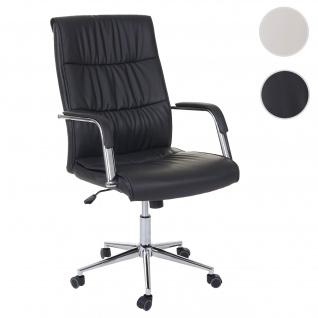 Bürostuhl HWC-A49, Schreibtischstuhl Drehstuhl Chefsessel, Kunstleder schwarz