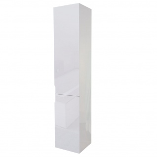 Hängeschrank HWC-B19, Midischrank Hochschrank Badezimmer Badmöbel, hochglanz 150x30cm ~ weiß - Vorschau 4