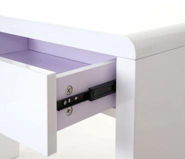 Design Schreibtisch Edmonton, Bürotisch Computertisch, hochglanz 100x50cm weiß - Vorschau 4
