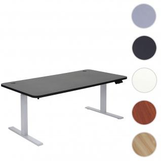 Schreibtisch HWC-D40, Computertisch, elektrisch höhenverstellbar 160x80cm 53kg ~ schwarz, grau