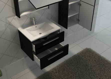 Badezimmerset HWC-C11, Waschtisch Spiegelschrank Hängeschrank, hochglanz - Vorschau 2