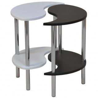 Beistelltisch H115, Teetisch Telefontisch, Yin und Yang, 2-teilig