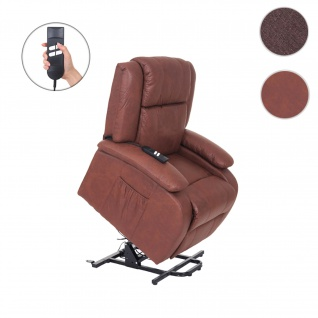 Fernsehsessel Lincoln, Relaxsessel Sessel, 2 Elektromotoren, Aufstehhilfe, Stoff/Textil