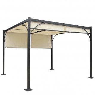 Pergola Granada, Pavillon, stabiles 6cm-Alu-Gestell + Schiebedach 3x3m