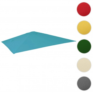 Bezug für Luxus-Ampelschirm HWC-A96, Sonnenschirmbezug Ersatzbezug, 3x4m (Ø5m) Polyester 3, 5kg ~ türkis