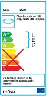 EGLO LED Deckenleuchte RL189, Deckenlampe Badleuchte, inkl. Leuchtmittel EEK A+ 11W - Vorschau 2