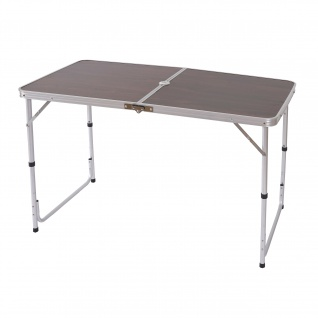 Campingtisch T367, Klapptisch Gartentisch Koffertisch 68x120x60cm mit Schirmloch