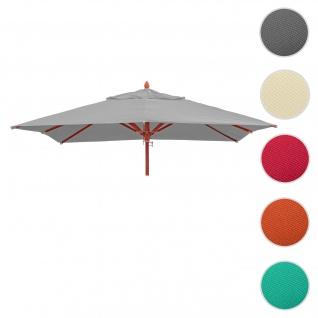Bezug für Gastronomie Holz-Sonnenschirm HWC-C57, Sonnenschirmbezug Ersatzbezug, eckig 3x3m Polyester 3kg ~ hellgrau
