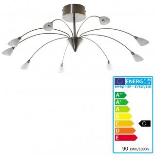 Deckenleuchte HW131, Deckenlampe Hängeleuchte, chrom 9-flammig EEK C