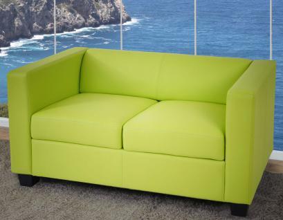 2er Sofa Couch Loungesofa Lille Kunstleder, hellgrün, 2.Wahl