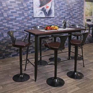 Bartisch HWC-H10, Hochtisch Tresentisch, Industrie-Design Ulme Holz FSC-zertifiziert 106x147x60cm vintage schwarz-braun