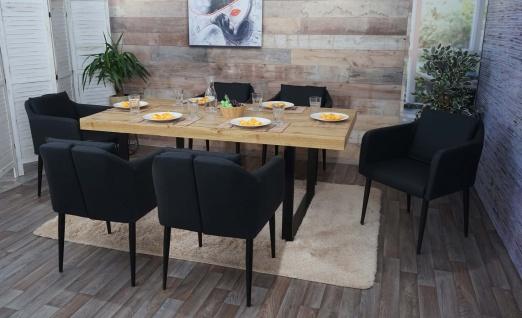 6x Esszimmerstuhl HWC-H93, Küchenstuhl Lehnstuhl Stuhl ~ Kunstleder schwarz - Vorschau 2