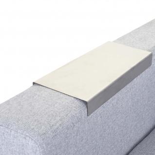 Armlehnen-Ablage HWC-C67, Sofa-Butler Tablett, Edelstahl 25cm Länge ~ 11, 5cm, 1 Stück