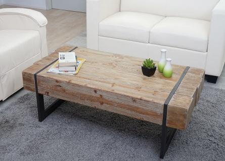 Couchtisch HWC-A15a, Wohnzimmertisch, Tanne Holz rustikal massiv 40x120x60cm ~ naturfarben - Vorschau 2