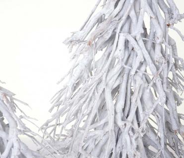 3er Set Dekobäume, S+M+L Weihnachtsbaum Christbaum Dekotanne 60/28/12cm weiß-grau - Vorschau 2