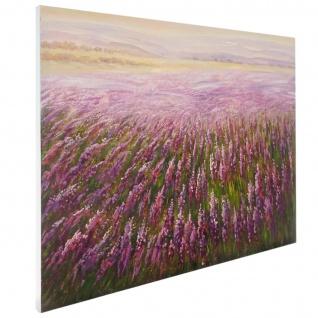 Ölgemälde Blumenfeld, 100% handgemaltes Wandbild XL, 100x80cm - Vorschau 3