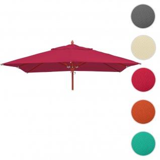 Bezug für Gastronomie Holz-Sonnenschirm HWC-C57, Sonnenschirmbezug Ersatzbezug, eckig 4x4m Polyester 3kg ~ bordeaux