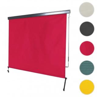 Vertikalmarkise HWC-F42, Senkrechtmarkise Sichtschutz Außenrollo Rollo, UV-Schutz 50 Stoff ~ 250x180cm, bordeaux-rot