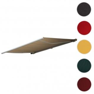 Bezug für Markise T123, Vollkassette Ersatzbezug Sonnenschutz 4, 5x3m ~ Polyester creme