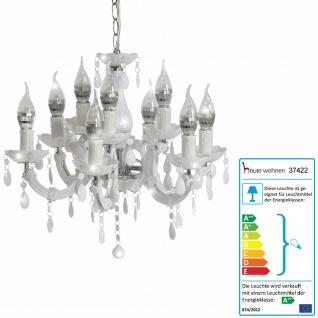 LED-Kronleuchter HW154, Hängeleuchte, 27W EEK A++ ~ weiß