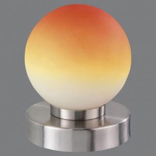 Tischleuchte Dimmer ~ Nickel matt, Glas opal orange - Vorschau 2