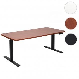 Schreibtisch HWC-D40, Bürotisch Computertisch, elektrisch höhenverstellbar Memory 160x80cm 53kg natur, schwarz