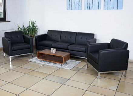 3-1-1 Sofagarnitur HWC-C19, Modular-Sofa Loungesofa, erweiterbar Kunstleder schwarz - Vorschau 2