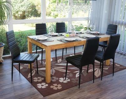6x Esszimmerstuhl Lixa, Stuhl Küchenstuhl, Kunstleder schwarz - Vorschau 2