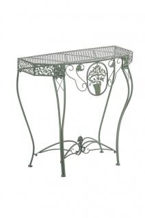 Blumentisch Navan, Gartentisch, Tisch, Metall antik-grün