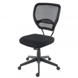 Profi-Bürostuhl Seattle, 150kg belastbar, Stoff/Textil ~ schwarz ohne Armlehnen