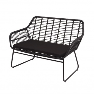 Polyrattan Garnitur HWC-G17a, Gartengarnitur Sofa Set Sitzgruppe ~ anthrazit, Polster anthrazit ohne Dekokissen - Vorschau 4