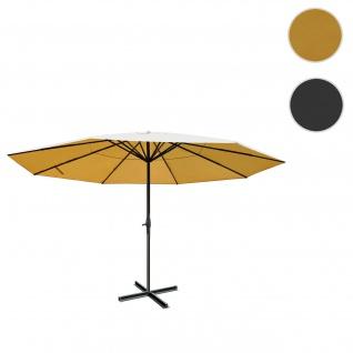 Sonnenschirm Meran Pro, Gastronomie Marktschirm ohne Volant Ø 5m Polyester/Alu 28kg ~ creme ohne Ständer