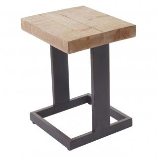 Sitzhocker HWC-A15, Hocker Fußhocker Holzhocker, Tanne Holz rustikal massiv 48x36x32cm
