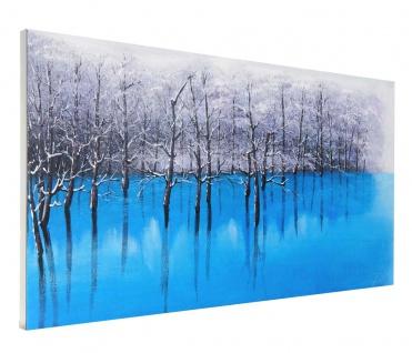 Ölgemälde Blauer See, 100% handgemalt, 140x70cm - Vorschau 4