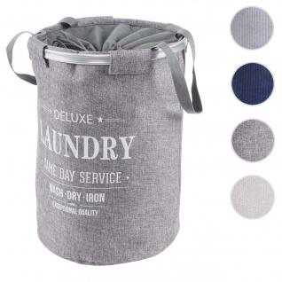 Wäschesammler HWC-C34, Laundry Wäschekorb Wäschesack Wäschebehälter mit Kordelzug, Henkel 55x39cm 65l ~ grau