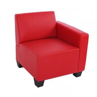 Modular Sofa Lyon Kunstleder rot ~ Seitenteil rechts