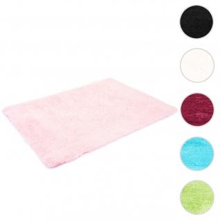 Teppich HWC-F69, Shaggy Läufer Hochflor Langflor, Stoff/Textil flauschig weich 160x120cm ~ rosa