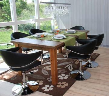 6x Esszimmerstuhl Dema, Drehstuhl Stuhl, Kunstleder ~ schwarz