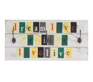 Wandgarderobe Love-Life, Shabby-Look Vintage 30x60cm - Vorschau 3