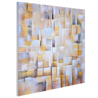 Ölgemälde Cubes, 100% handgemaltes Wandbild Gemälde XL, 100x100cm - Vorschau 3